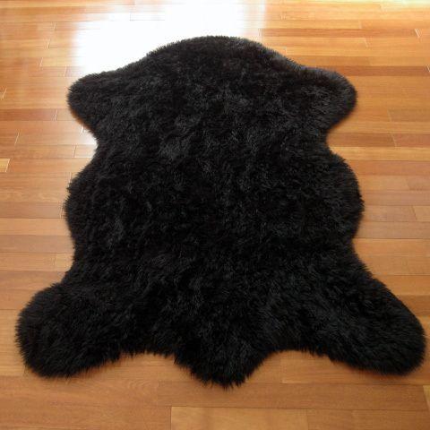Classic Bear Pelt Black Faux Fur Rug (3'3 x 4'7) (3x5), Size 3' x 5' (Acrylic, Animal)