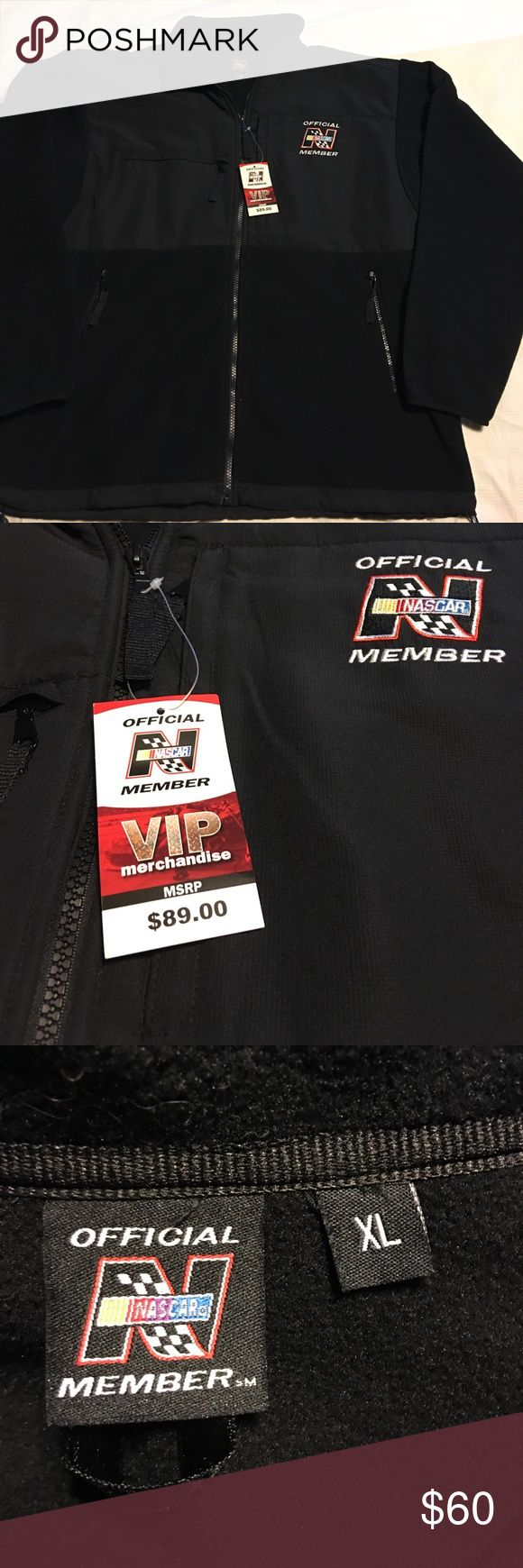 NWT Official NASCAR VIP jacket XL Beautiful black jacket for Nascat VIP. 100% polyester. XL Nascar Jackets & Coats