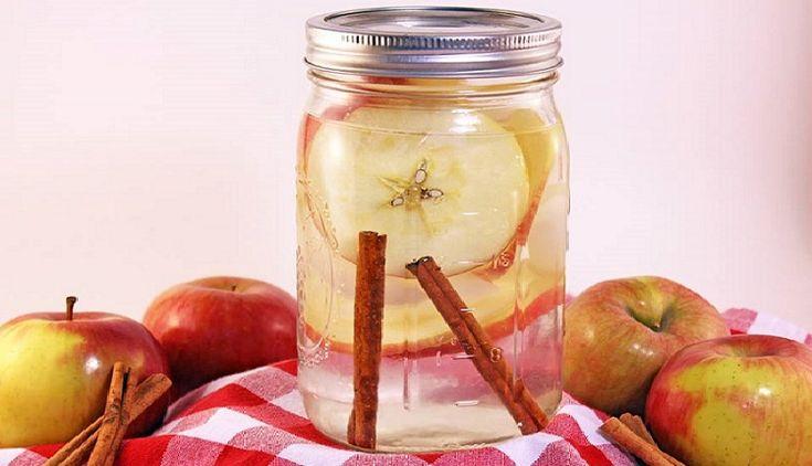 2 litros de Agua de 1manojo  canela,  1/2 pepino en rebanadas y 1 manzana en rebanadas dejsr remojar minimo 3 horas esta infusion es para un dia la  fruta se puede reutilizar maximo 24 horas  ver video