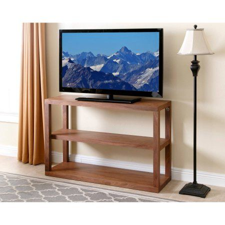 Devon & Claire Maxwelltta Wooden 3-Tier TV Stand Holds TVs 42 inch - 60 inch, Multiple Colors, Brown