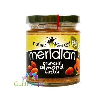 Meridian czyste Masło Migdałowe Crunchy bez cukru i soli