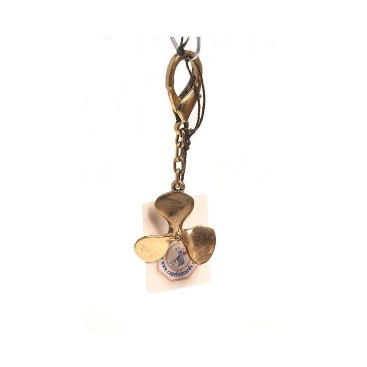Decorative Brass Keychain – Propeller