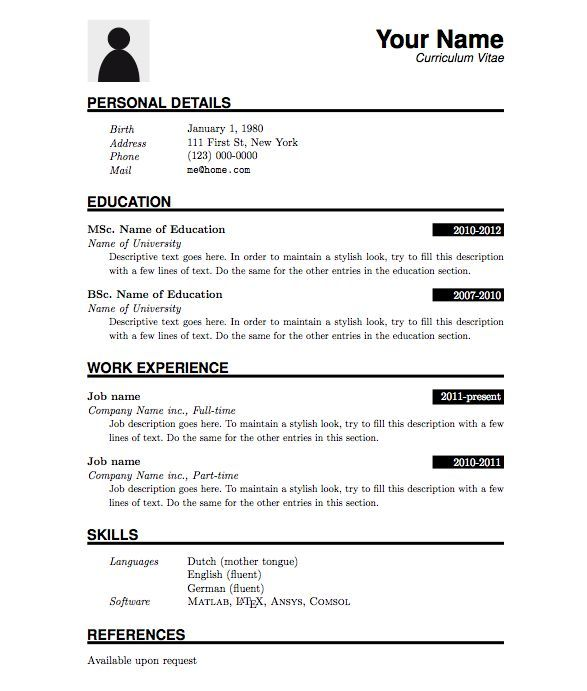 The 25+ best Latex resume template ideas on Pinterest Latex - cv document