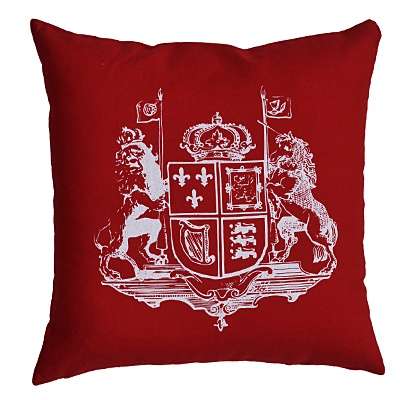 Coat Of Arms Cushion Cover     was $11.99 now $5.99 Red, White or Dark Grey