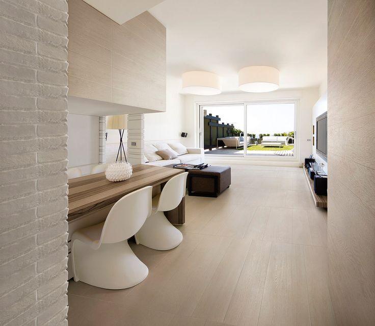 Rivestimenti, piastrelle e pavimenti Caesar - linea Life - Piastrelle Gres porcellanato Effetto parquet Legno Rovere #interior #design