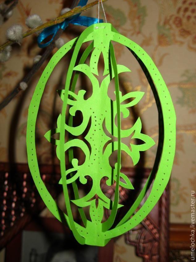 Создаем пасхальное дерево с ажурными яйцами - Ярмарка Мастеров - ручная работа, handmade