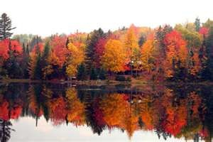 Mirror Lake - Best place for fall foliage - Lake Placid, New York (The Adirondaks)