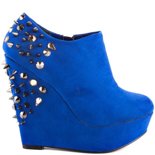 Aldo Shoes Cobalt Blue Suede Booties