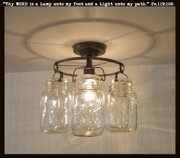 193 best mason jar light fixtures images on pinterest decorated mason jar ceiling light ring of hanging quarts aloadofball Image collections