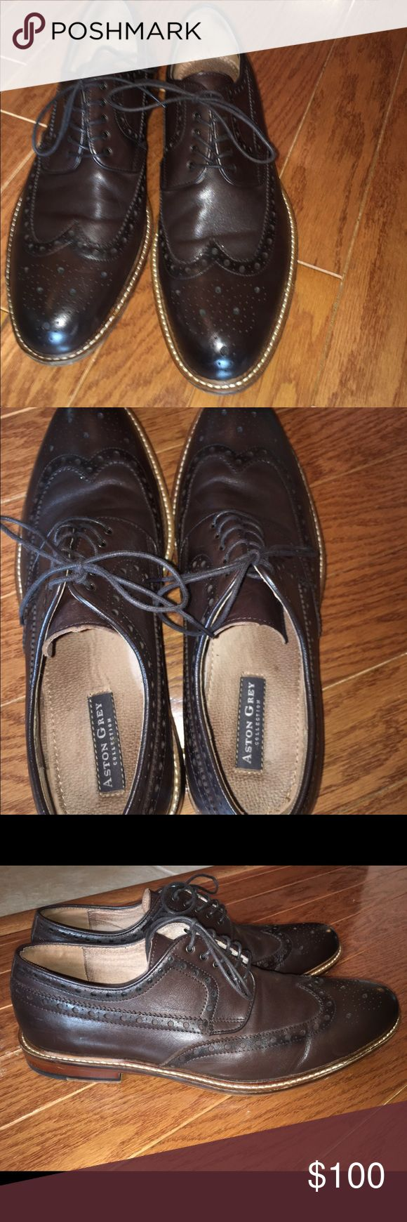 Mens Aston Grey dress shoe. Almost brand new, worn twice!! Aston Grey Shoes Loafers & Slip-Ons