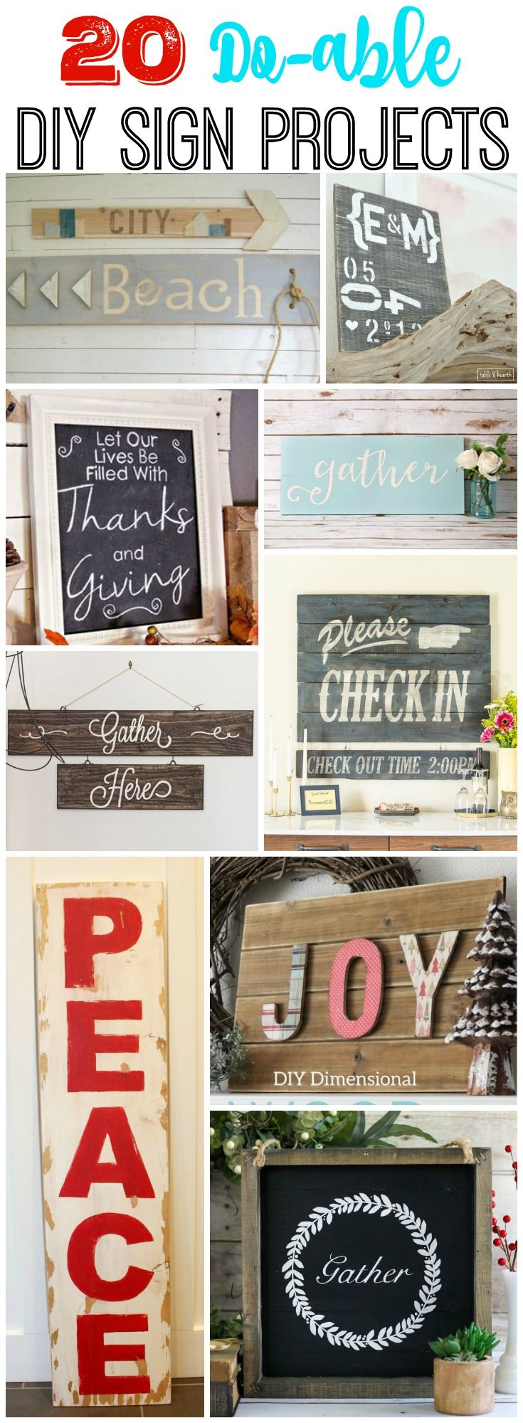 20 Do-able DIY Sign Projects