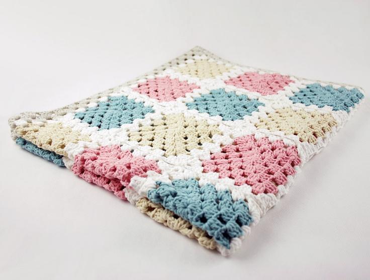 Crochet Afghan. Love the colors   Crochet   Pinterest   Manta, Manta ...