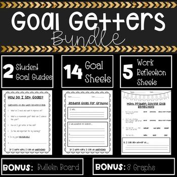 Student Goal setting is an incredibly important component to student learning ownership and student learning progress. This bundle can assist you in designing student driven goals, progress monitoring towards those goals, and creating goal setting portfolios to share with student's parents at parent conferences.