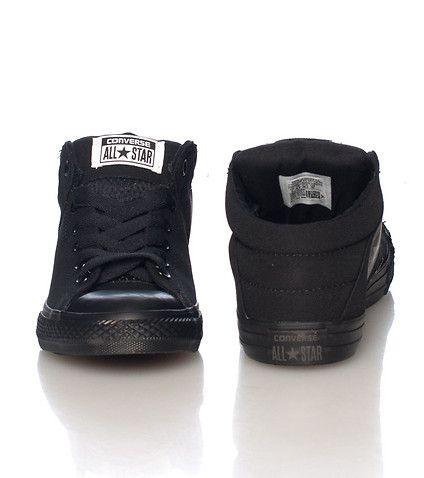 black converse medium tops