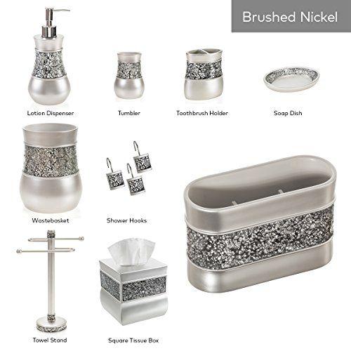 Creative Scents Brushed Nickel Bathroom Trash Can 775x 775x 10