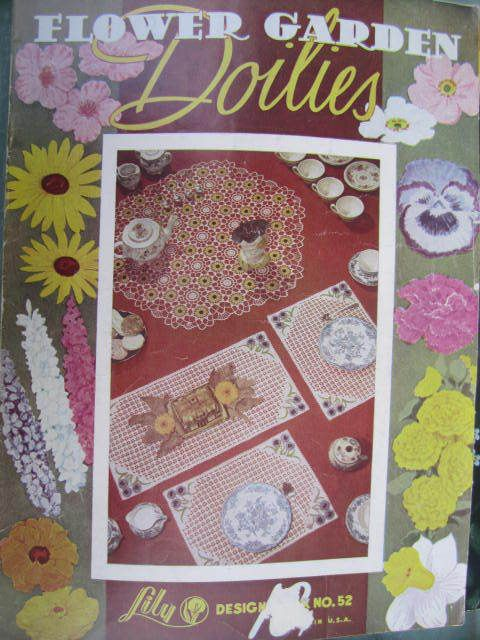 See Sally Sew-Patterns For Less - Flower Garden Doilies Crochet Designs Vintage Lily Design Book No. 52, $6.00 (http://stores.seesallysew.com/flower-garden-doilies-crochet-designs-vintage-lily-design-book-no-52/)