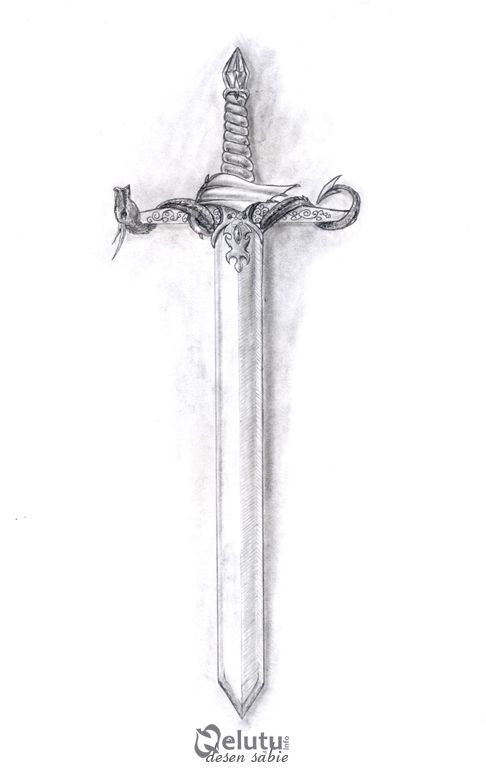 Pin By Elin On Tattoo Sword Drawing Pencil Drawings