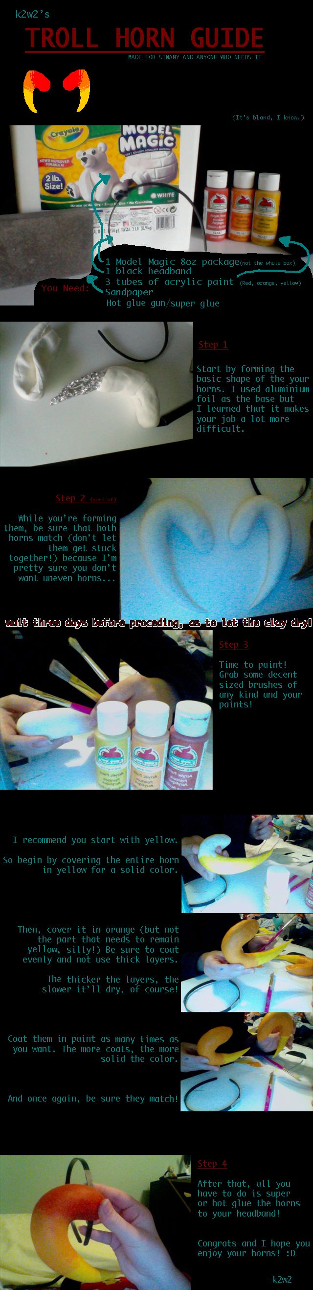 Homestuck Troll Horn TUTORIAL--This is going to be useful in cosplays!