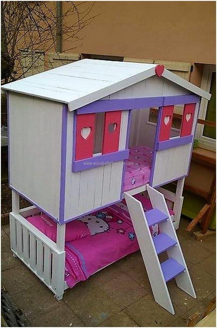 17 best ideas about pallet bunk beds on pinterest kids for Kids pallet bed