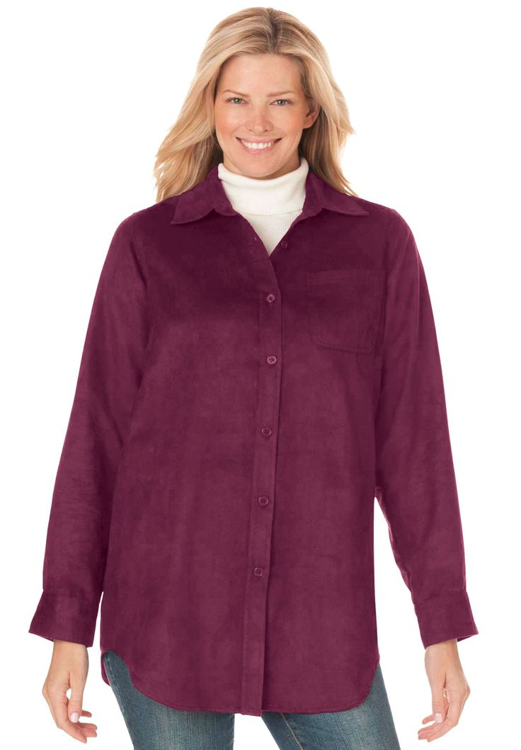 Shirt in soft moleskin - Women's Plus Size Clothing