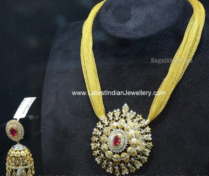 The 35 best real jewelry images on pinterest diamond jewellery indian diamond pendant jhumka set aloadofball Choice Image