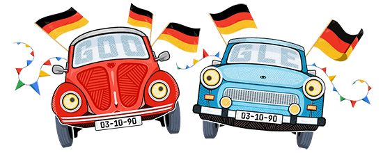 October 3rd, 2017 - Germany  Tag der Deutschen Einheit  https://www.google.de/logos/doodles/2017/german-reunification-day-2017-5190019055616000.2-l.png  (search page mini doodle:  https://www.google.de/logos/doodles/2017/german-reunification-day-2017-5190019055616000-s.png )