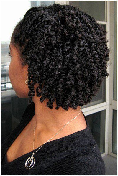 two strand twists, then add flexirods to make ends curly. More versatility in style.