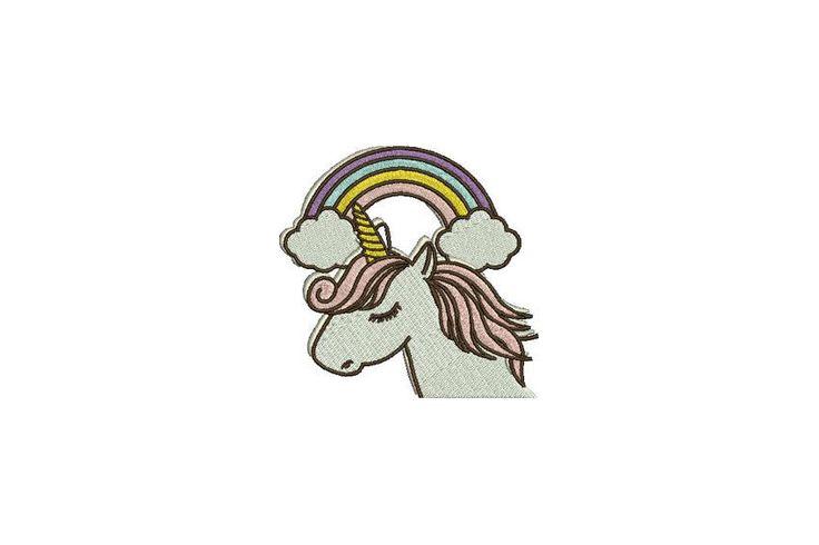 Machine Embroidery Whimsical Unicorn Rainbow Machine Embroidery File design 4x4 inch hoop by Oopsidaisi on Etsy https://www.etsy.com/au/listing/534906852/machine-embroidery-whimsical-unicorn