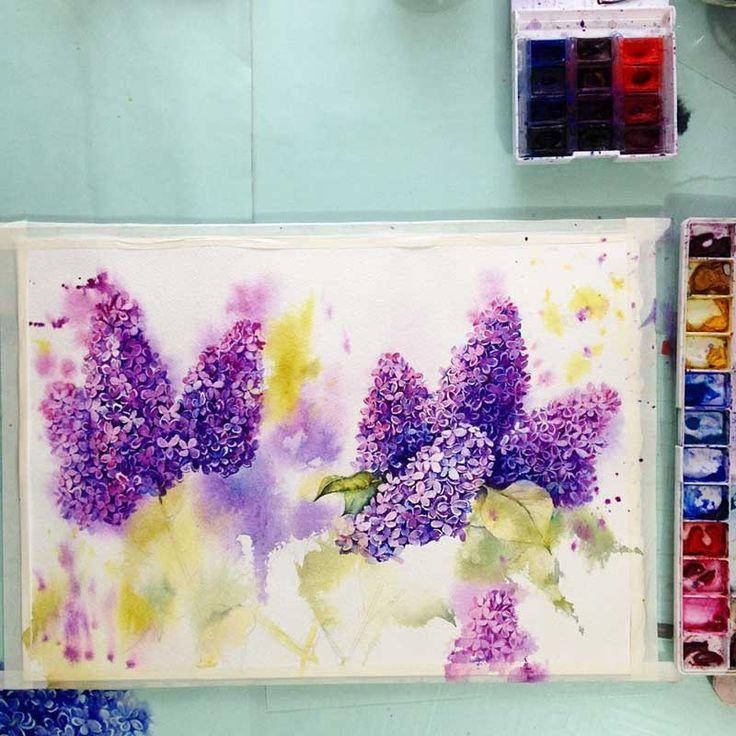 Sanatlı Bi Blog Çiçekleri Suluboya ile Resmeden Sanatçıdan İlham Verici 20 Çalışma 14