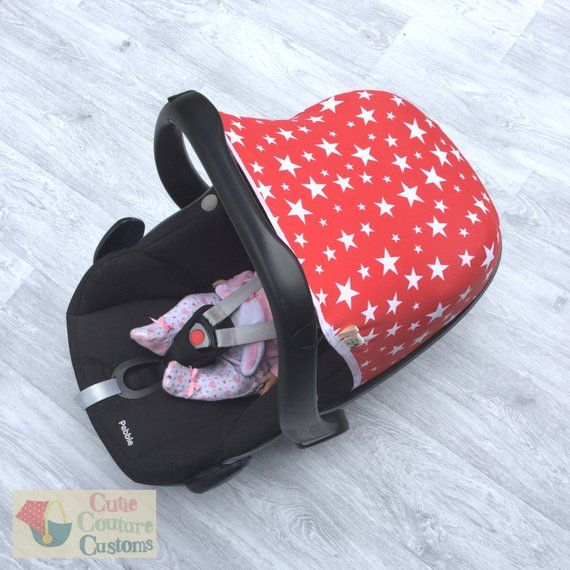 Red Carseat Hood Maxi Cosi Cover