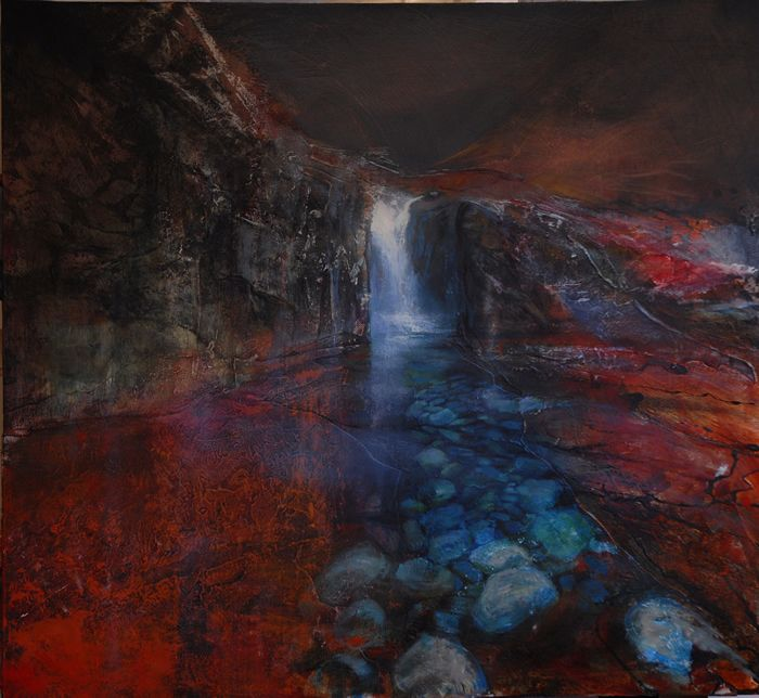 Glen Brittle Falls - Beth Robertson Fiddes  Another glorious painting from Beth!