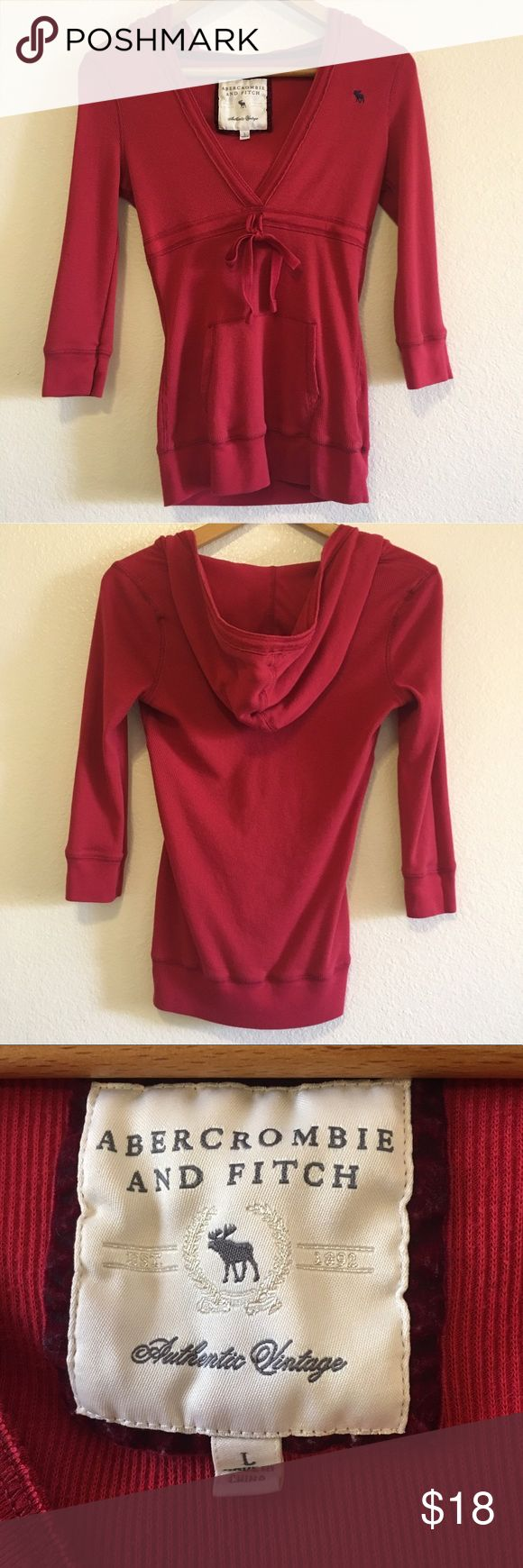 Abercrombie Fitch Authentic Vintage Red Hoodie Red Hoodie Abercrombie And Fitch Tops Clothes Design