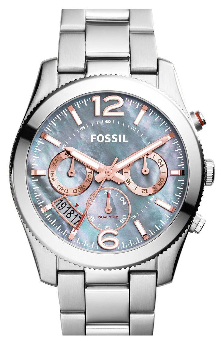 Fossil 'Perfect Boyfriend' Chronograph Bracelet Watch, 40mm