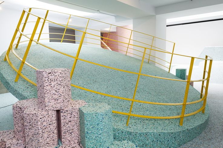 "RIBA's interactive exhibition invites you to play on a ""Brutalist Playground"" made from foam"