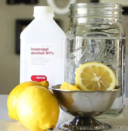 Glass Cleaner 3 Tablespoons Lemon Juice 1 2 Cup Rubbing