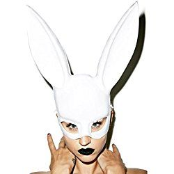 Adult size Light Weight Masquerade Rabbit Mask - Bondage Bunny - BioShock - White Halloween Costume