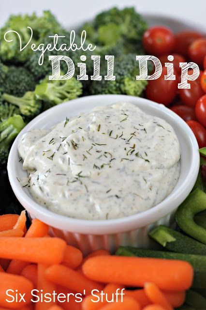 Easy Vegetable Dill Dip on SixSistersStuff.com - hands down the best thing to dip your veggies in!