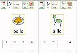 Resultado de imagen de actividades para imprimir de segmentacion silábica para niños