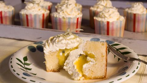 Recipe: White Chocolate Cupcakes with Lime and Passionfruit Curd and Swiss Meringue Buttercream