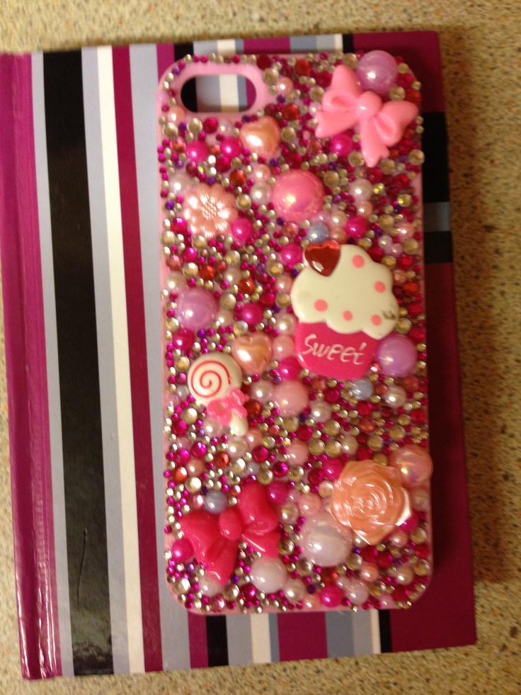 A Swarovski & pearl phone case. Made for most phone models email sam@sparklesbysam.co.uk xxx