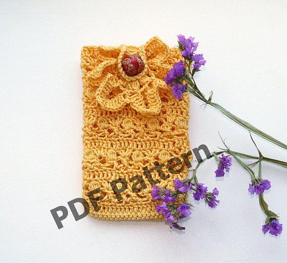 Crochet phone cover pdf pattern Crochet Cell Phone case DIY