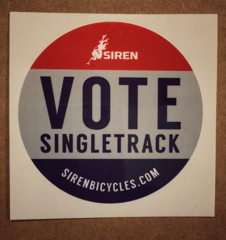 We're all in this election season. We're standing behind the candidate that says when they are president, all your trails are belong to us. Until then, we're championing hard for anyone at the federal
