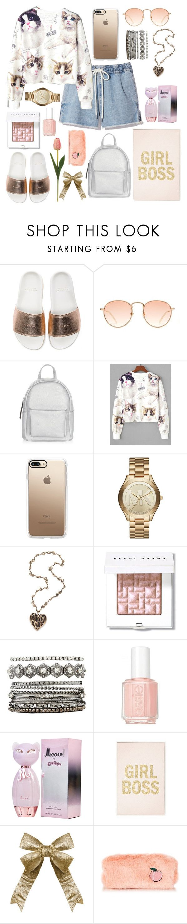 """Untitled #698"" by hebaamir ❤ liked on Polyvore featuring BUSCEMI, New Look, Casetify, Michael Kors, Bobbi Brown Cosmetics, Charlotte Russe and Essie"