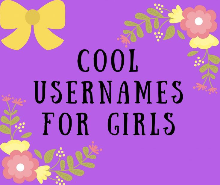 Good usernames for guys