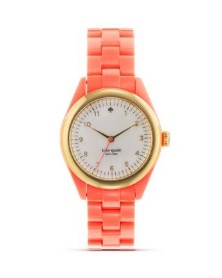 Coral Kate Spade watch...... Love the color!