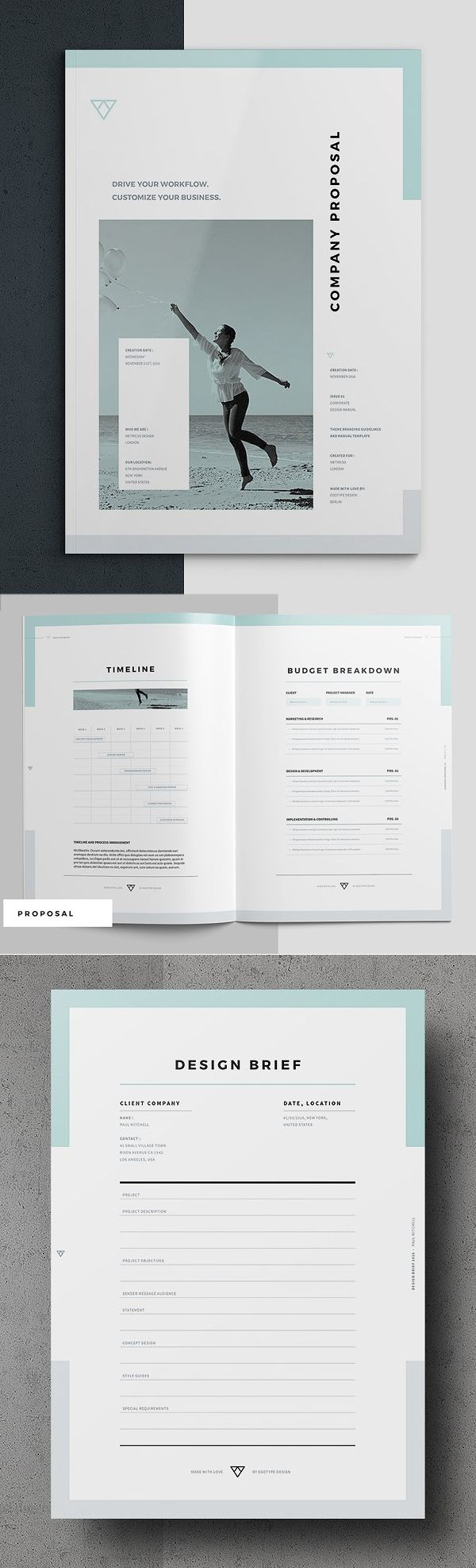 Professional Business Proposal Templates Design 28