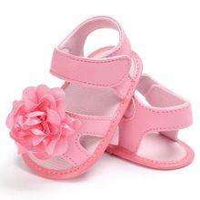 Meninas doces Do Bebê Big Flor Sapatos Berço Bebe Prewalkers Princesa Primeiro Walkers Infantil Criança Macio Com Solado de Sapatos Para Recém-nascidos(China)