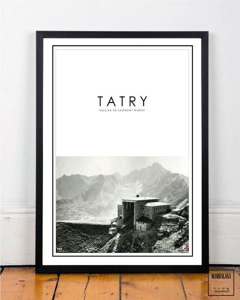 plakat 50x70 cm ZAKOPANE VII - MAMBALAGA - Plakaty typograficzne