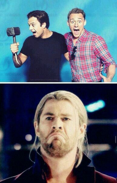 Omg....Thor's face.  I just laughed so hard!!