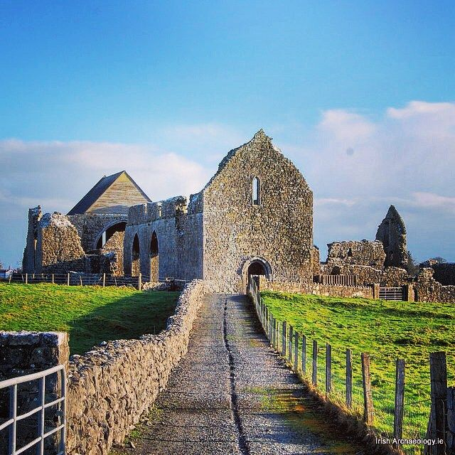 The monastic ruins at Abbeyknockmoy, Galway